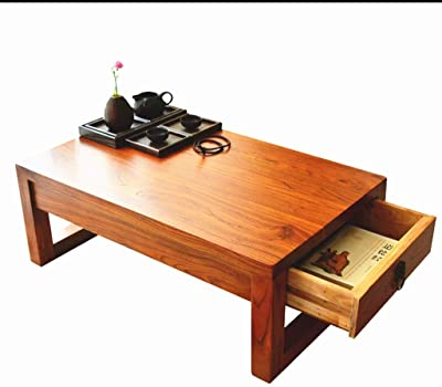 Table Small Solid Wood Tatami Coffee Balcony Bay Window Simple Window Sill Small Home Small Zen Small Tea (Size : 60x40x30cm)