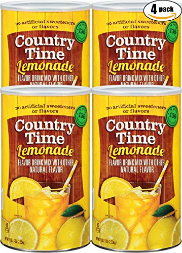 Country Time Lemonade Drink Mix, 82.5 oz Can (Pack of 4, Total of 330 Oz)