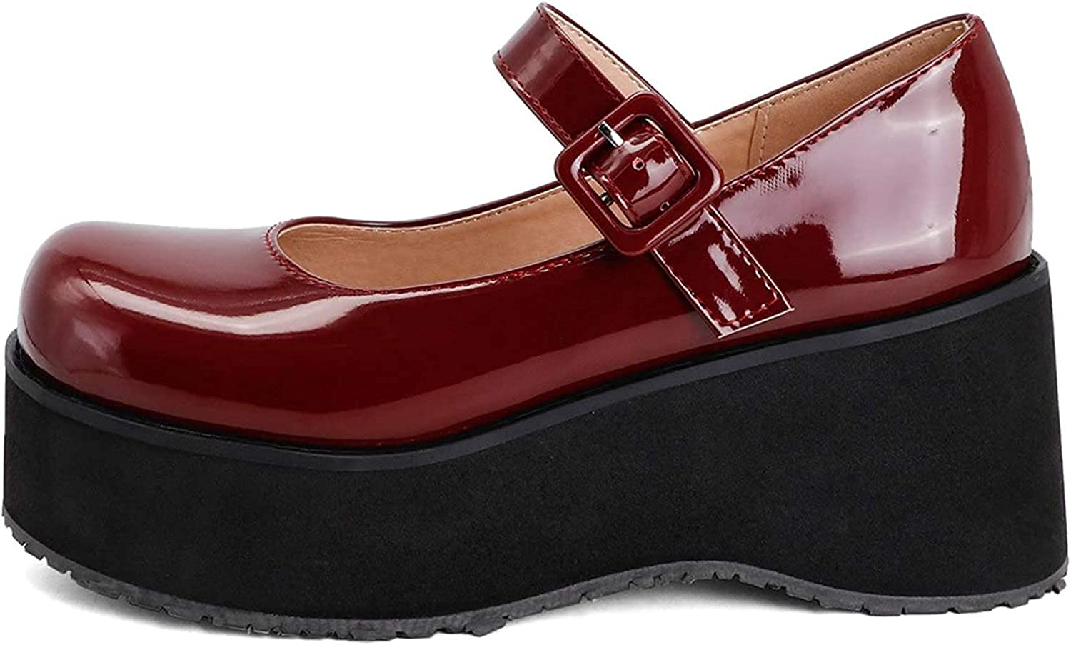 Womens Wedges Shoes High material Patent Clearance SALE! Limited time! Leather Platform J Oxfords Pumps Mary