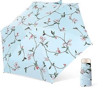 DORRISO Fast Drying Durable Travel Umbrella Portable Compact Foldable Mini Umbrellas Women Sun Umbrella Slip-Proof Handle ...