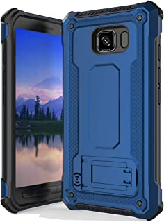 Anccer Armor Series for Samsung Galaxy S6 Active Case with Kickstand Anti Shock Dual Layer Anti Fingerprint Protective Cover for Galaxy S6 Active (Not Fit for Galaxy S6) - Blue