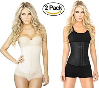 82e95f6adb Waist Trainer And Shaper - Black 3 Hook Latex Waist Cincher Belt - By Ann  Chery