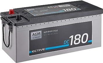 ECTIVE 180Ah 12V AGM Batterie DC 180 VRLA Versorgungsbatterie in 7 Varianten: 70Ah..