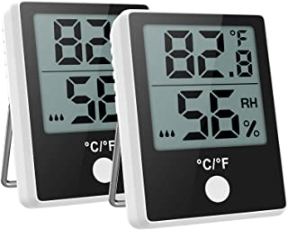 Brifit 2 Piezas Termómetro Higrómetro Digital, Monitor de Temperatura y Humedad con Indicador de Confort, Mini Termómetro ...