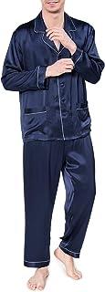 COLD POSH Mens 100% Silk Satin Pajamas Set Sleepwear 22 Momme Luxury Loungewear