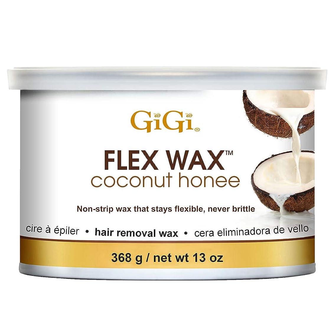 分割脳北西GiGi ココナッツHoneeフレックスワックス脱毛ワックス、13オンス