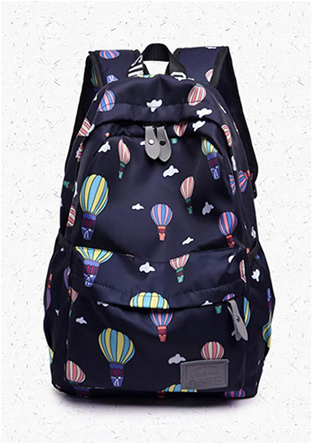 Show Time backpack:Women's Bags Oxford Synthetic Commuter Backpack Pattern Print Scenery Purple Fuchsia Sky blueee