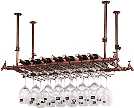 HTTJJ Wall Wine Rack   Wall-Mounted Metal Wine Rack   Cup Holder Shelf   Stemware Racks   Hanging Wine Glass Holder   Wine...