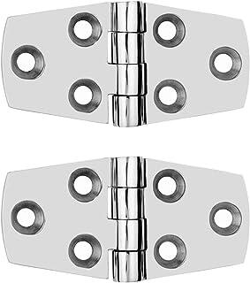 4X Stainless Steel Boat Deck Hinge 3.8''x1.5'' Cabinet Cupboard Door Butt Hinges