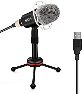 TONOR Microphone USB PC, Condenser Mic with Stand for Chatting/Skype/Youtube/Recording/Gaming/Podcasting for Macintosh or Windows Computer