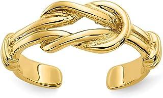 Diamond2Deal - Anello da piede da donna, in oro giallo 14 ct