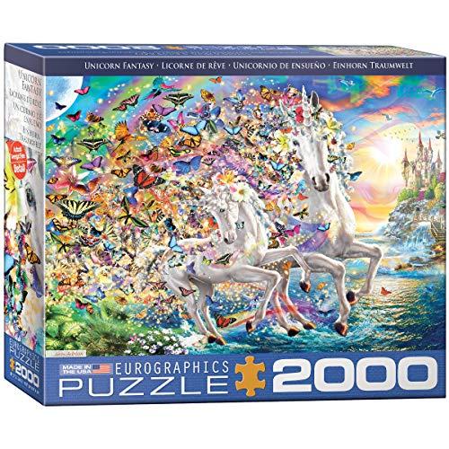 EuroGraphics Unicorn Fantasy by Adrian-Puzzle de 2000 Piezas, Multicolor (8220-5551)