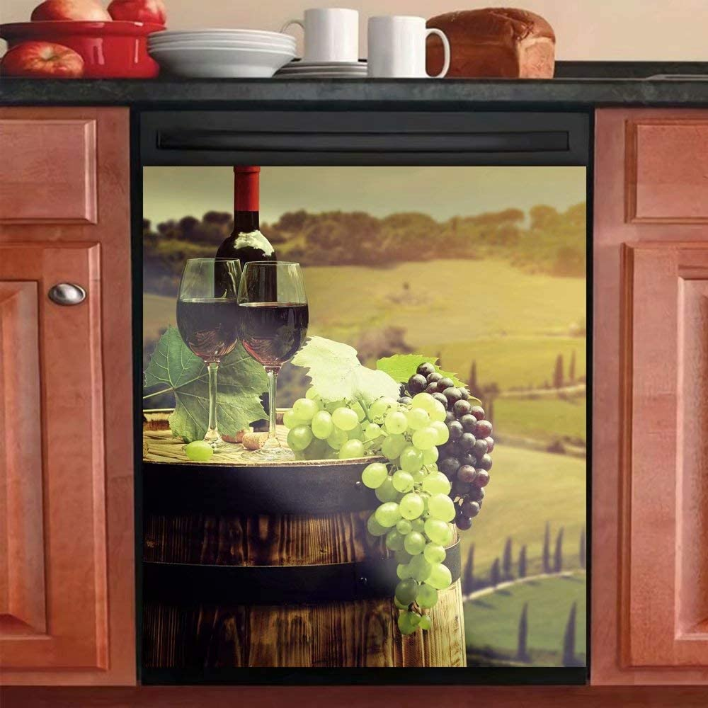 Country Max 84% OFF Winery Kitchen Dishwasher Stickers Ranking TOP7 Ca Grape Cover Decal