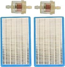 Mckin (Pack of 2 Air Filter for Cub Cadet MTD 751-10298 951-10298 Kohler 14 083 01-S 14 083 01-S1 14 083 02-S Honda 17218-ZG9-M00 Lawn Mower with Fuel Filter