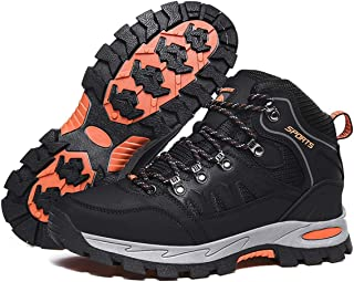 Men High Rise Outdoor Boots Non-Slip Trekking Shoes Lace-up Outdoor Shoes for All Season Walking, Travelling, Backpacking,...