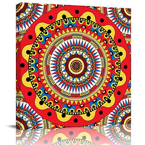 LEO BON Canvas Wall Art Oil Print Painting 12 x 12 Inch Geometric...