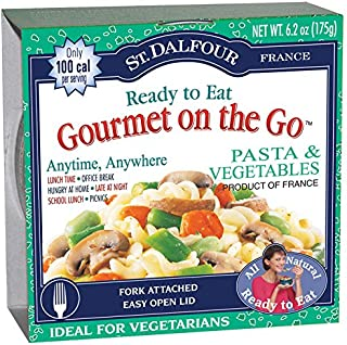 St. Dalfour Gourmet On The Go, Ready to Eat  Pasta & Vegetables, 6.2-Ounce Tins (Pack of 6)