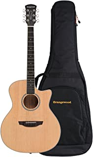 Orangewood Rey Grand Auditorium Cutaway Acoustic Guitar with Spruce Top, Ernie Ball Earthwood Strings, and Premium Padded Gig Bag Included