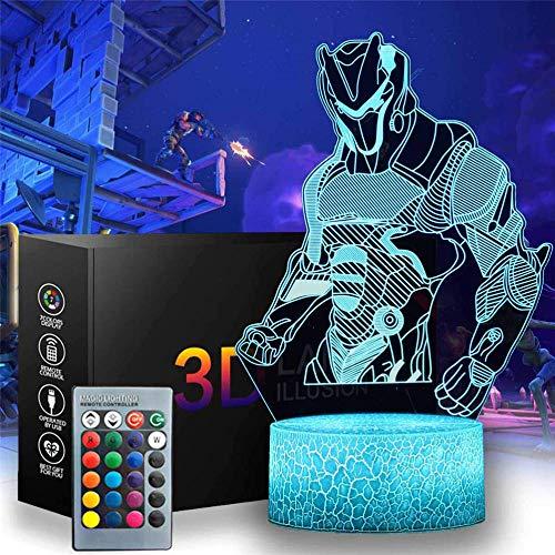 Luz nocturna 3D para niños con ilusión 3D Omega, cargador USB, ideal para regalos de cumpleaños, vacaciones, Navidad para bebé