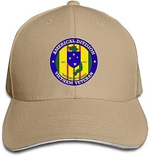 Americal Division Vietnam Veteran Decal Adjustable Sandwich Hats Baseball Cap Sun Hat
