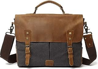 "Mens Bag Briefcase Shoulder Messenger Crossbody Satchel Casual Bag Office Business Man Water Resistant 9.7"" Laptop Bag High capacity"