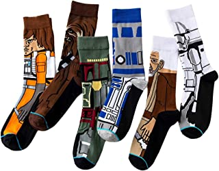 ASWER Men's 3 Pairs Star Wars Sport Cotton Socks Athletic Casual Crew Socks