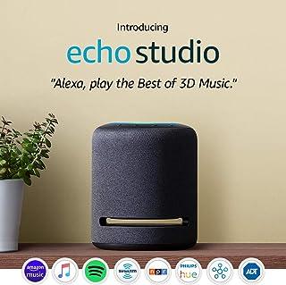 Echo Studio � High-fidelity smart speaker with Philips Hue Bulb � Alexa smart home starter kit