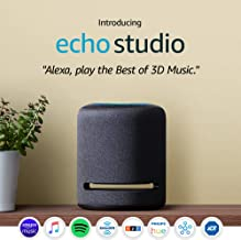 Echo Studio – High-fidelity smart speaker with Philips Hue Bulbs – Alexa smart home starter kit