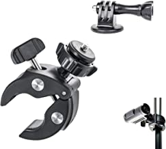 Heavy Duty Camera Handlebar Seat Post Clamp Mount Holder for Bike Motorcycle ATV Snowmobile Boat - Fits GoPro Hero7,6 5,4,3+,3,2, Canon, Yi 4K, ASASO, Nikon, Sony, CASIO, Kodak and Other Cameras