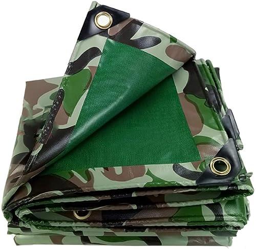 XUEYAN Bache imperméable Double Face résistante de Camouflage Vert, Tissu Anti-Froid, baches de Tente de Camping de Couverture Solaire Anti-poussière de Camping, 450g   (Taille   2mx3m)
