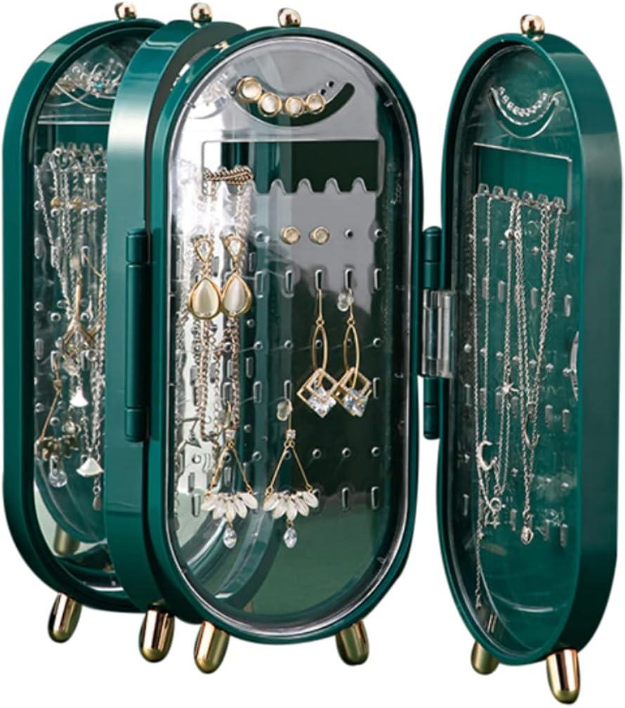 Lnrueg Earrings Display Stand Large Indefinitely Du Foldable Max 83% OFF Plastic Capacity