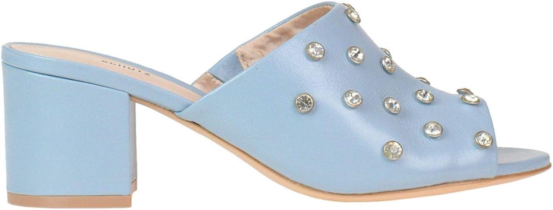 Schutz Women's MCGLCAT000005245E Light bluee Leather Heels