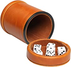 Best leather dice cup with lid Reviews
