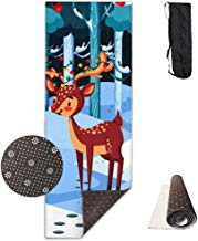 FGRYGF Lovely Deer Printed Design Yoga Mat Extra Thick Exercise & Estera de Yoga Fit Yoga,Pilates,Core Exercises,Floor Exercises,Floor Exercises