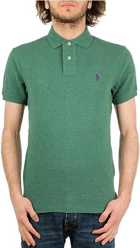 Ralph Lauren Polo piqué Vert Logo Violet Régular pour Homme