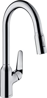 hansgrohe 71800000 M429-H220 Kitchen Tap, 360° Swivel Range, Pull-Out Spray, Chrome, Spout height 22 cm
