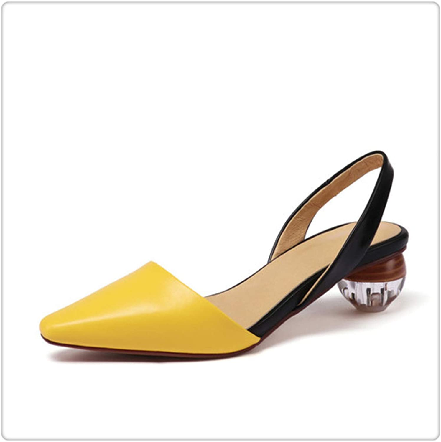 Yyixianma Women High Heel shoes Slingbacks Pumps Lady Sexy Pointed Toe Work Office shoes