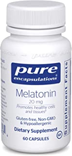 Pure Encapsulations - Melatonin 20 mg - Hypoallergenic Supplement Promotes Healthy Cells and Tissues - 60 Capsules