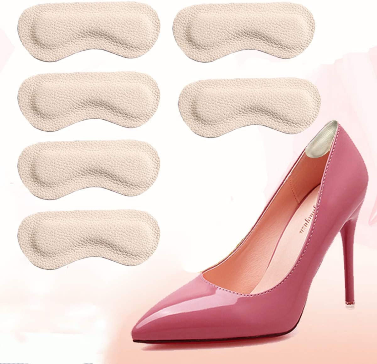 Heel Grips Cushion Inserts Max 46% OFF Pads One Shoes for Leather Special Campaign