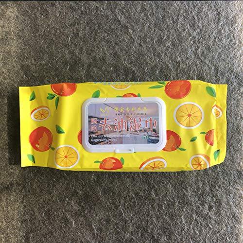 50pcs empaquetados 18 * 20cm Perlage Toallitas desengrasantes de Cocina con detergente Aceite Natural extraído de cítricos sin Enjuague No irritante-China, 1 Bolsa