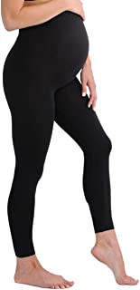 Touch Me Maternity Leggings Stretch Tights Black Soft Solid Active Wear Yoga Gym Clothes