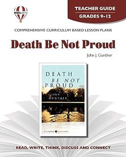 Death Be Not Proud - Teacher Guide by Novel Units