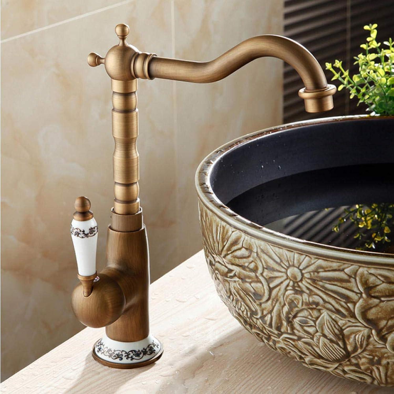 Waschtischarmaturen Antike Waschbecken Mischbatterie Einzigen Handgriff Einlochmontage WC Bad Wasserhahn Messing Heien und Kalten Hahn
