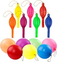 RUBFAC 36 Punch Balloons, Neon Punching Balloons with Rubber Band Handles, 18 Inch, Various Colors Punch Balls, Suitable for Gifts, Children's Games, Weddings