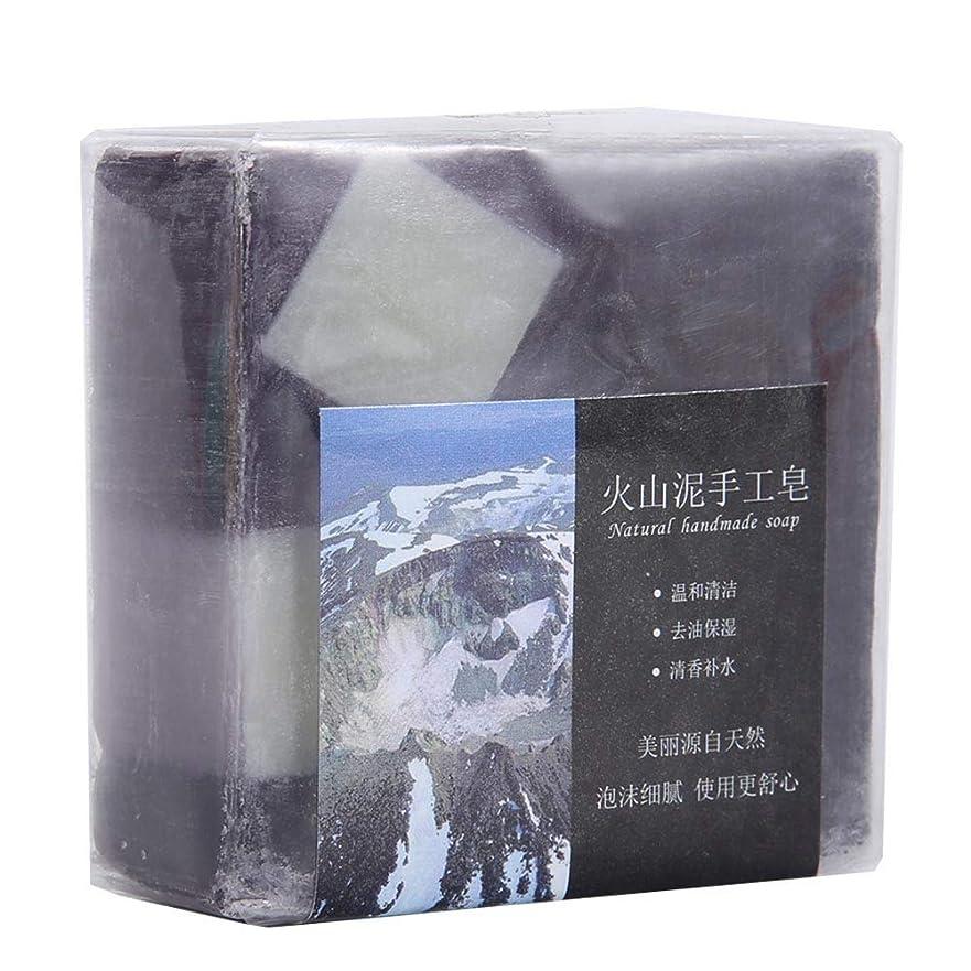 スポーツマン醸造所細分化するディープクリーニング 火山泥 ハンドメイドグリース 保湿石鹸用 100 G 手作り石鹸