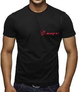 Interstate Apparel Men's Dodge Challenger Demon SRT Chest Black T-Shirt Black