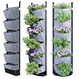 NEWKITS Vertical Wall Garden Planter with 6 Pockets Best Plant Growth Design Large Space Waterproof Breathable...