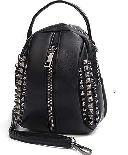 Rivet Studded Crossbody Purse, Small Shoulder Bag Lightweight Top handle Satchel Mini Handbag for Women