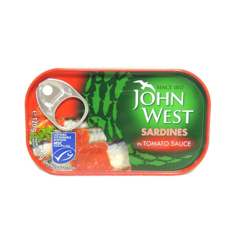 John West - Sardines in Tomato Sauce - 120g (Case of 12)