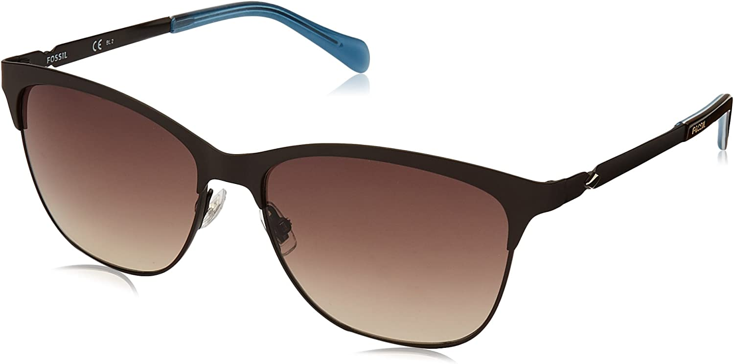 Fossil Women's Fos 2078 s Square Sunglasses MTT BROWN 55 mm